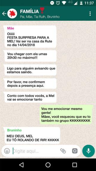 Imagem de uma conversa no whatsapp