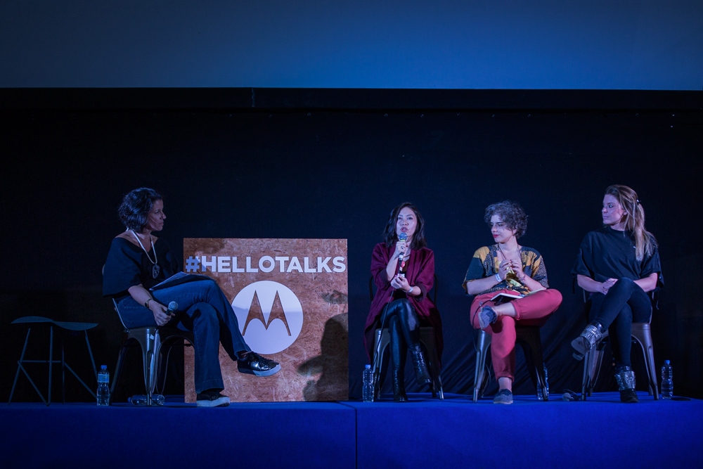 Hello Talks, da esq. para a dir. : Juliana Sabbag, Piti Koshimura, Natália Garcia e Karina Oliani