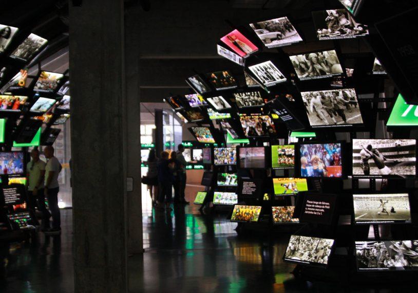 O Museu do Futebol atrai amantes do esporte do Brasil inteiro.