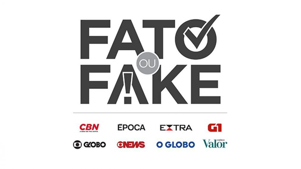 Imagem/divulgação: Fato ou Fake é um serviço do Grupo Globo que investiga fake news.