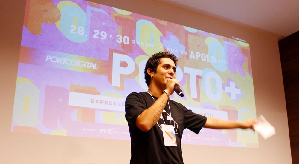 João Izzidio, produtor cultural e um dos organizadores do Porto+