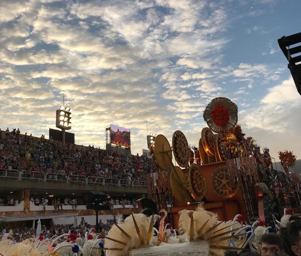 Marquês de Sapucaí em dia de Carnaval