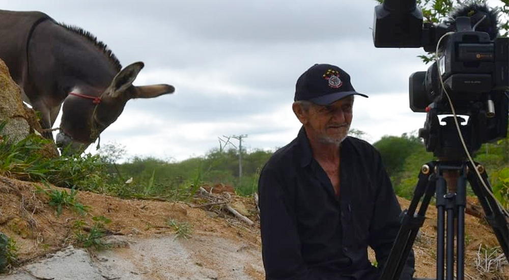 Imagens da filmagem de Leonardo Bastião - o poeta analfabeto (Divulgação)