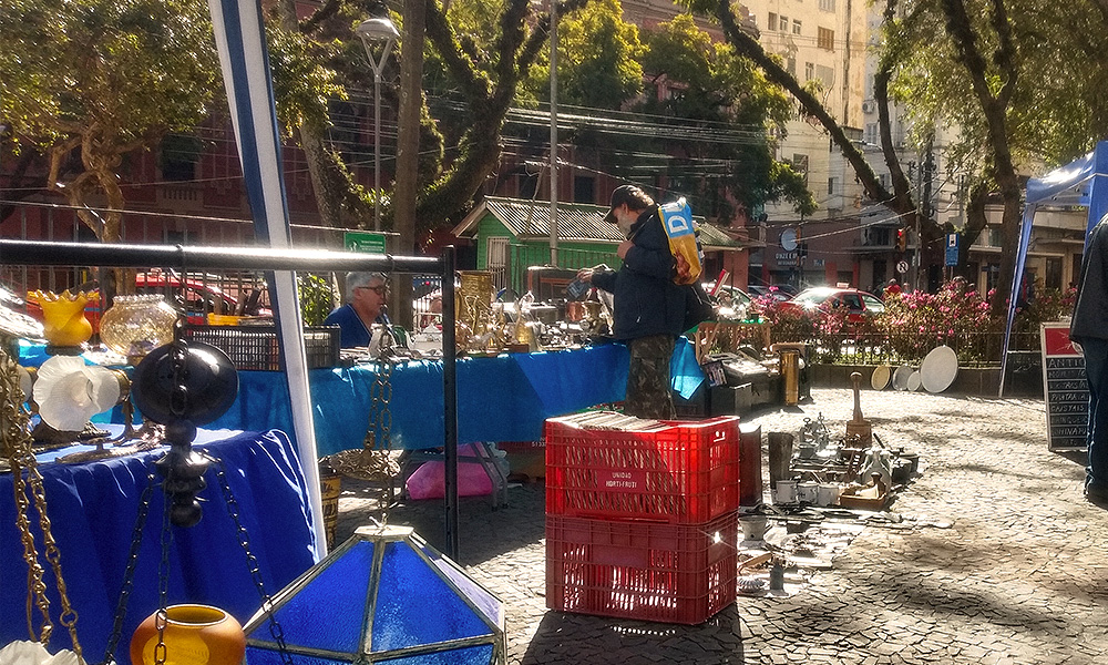 A Praça Daltro Filho fica na descida da rua Marechal Floriano